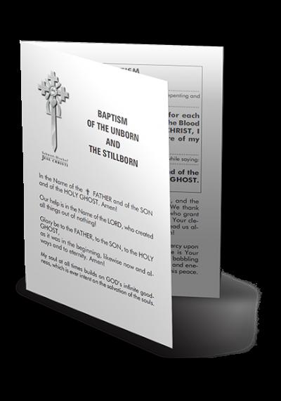 Baptism of the Unborn and the Stillborn